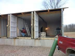 how to make a shipping container underground home