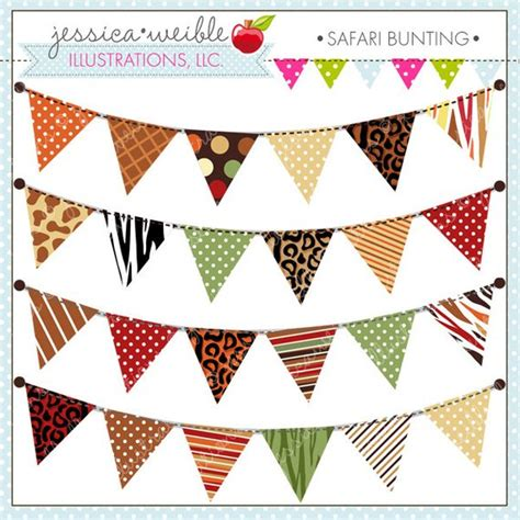 Decorative Bunting safari bunting decorative clipart graphics for commercial or