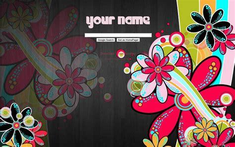 themes list art retro flowers google theme