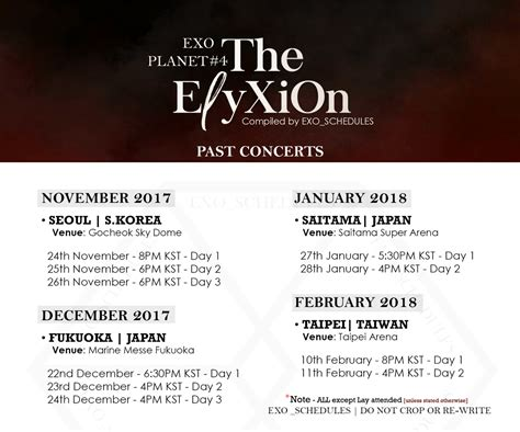 exo tour 2018 exo schedule on twitter quot exo planet 4 the eℓyxion