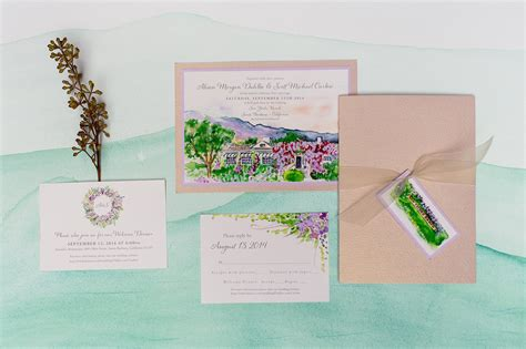 Wedding Invitation Places by Wedding Invitation Places Painted Landscape