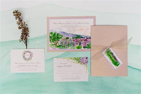 wedding invitation places wedding invitation places painted landscape