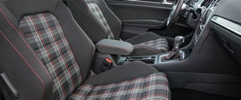 volkswagen golf seats vw golf gti plaid seats