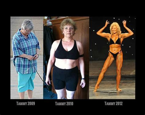 50 year old women before and after tammy hansen white over 50 and amazing fitness