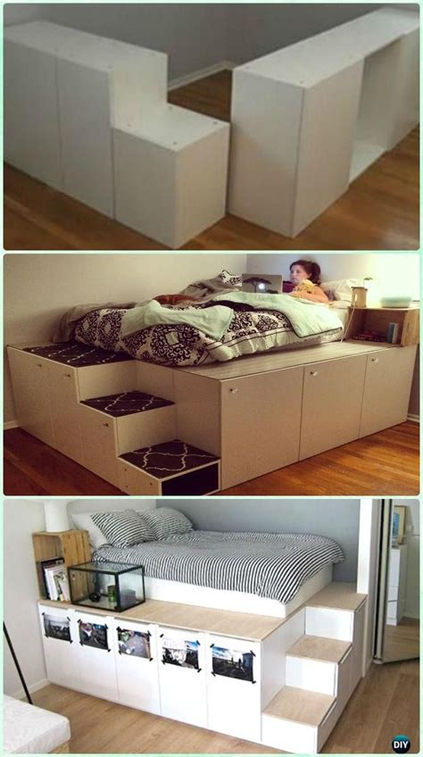 diy ikea bed diy space saving bed frame design free plans instructions bed frame design ikea kitchen
