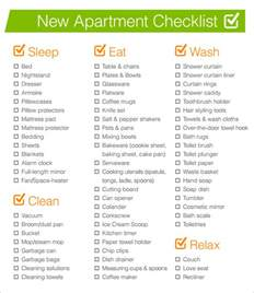 sle new apartment checklist 7 documents in pdf word