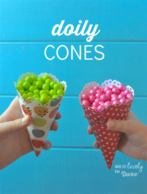 Make Paper Cone - how to make paper cones live craft