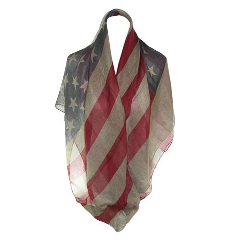 womens vintage american flag scarf by ctm 174 fashion