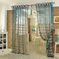 Teal Sheer Curtains Elegant Embroidery Craftsmanship Teal Sheer Curtain
