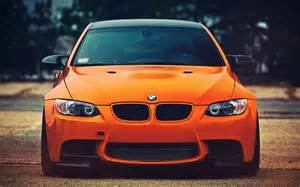Connected Car Orange Excellent Front View Car Wallpaper Hd Pictures