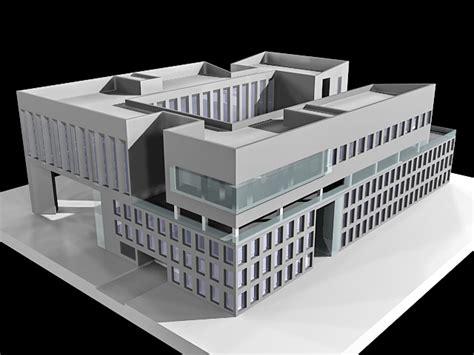 business office buildings  model ds max files   modeling   cadnav