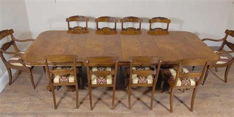 regency walnut dining table 10 william iv chairs set