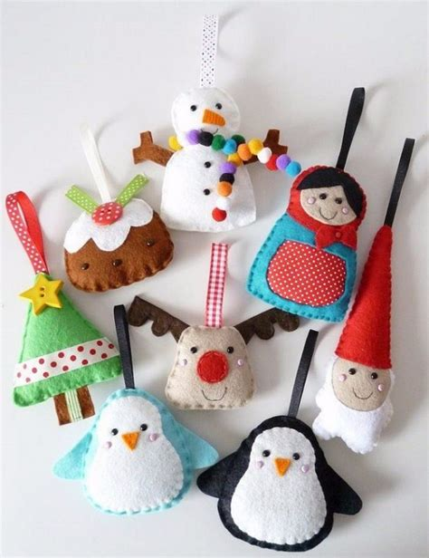 felt decorations 39 felt ornament crafts to trim