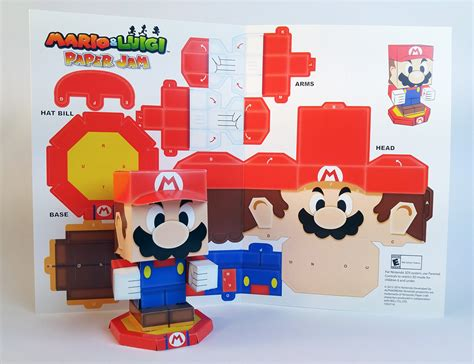 mario paper craft mario luigi paper jam papercraft premium on behance