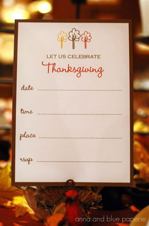 Come With Me My Thanksgiving Ae Invite by And Blue Paperie Free Printables Celebrate