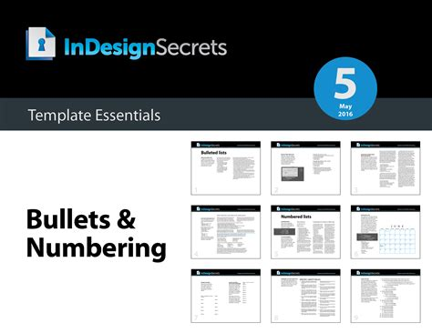 Indesign Template Essentials Bullets Numbering Indesignsecrets Indesignsecrets Style Guide Template Indesign