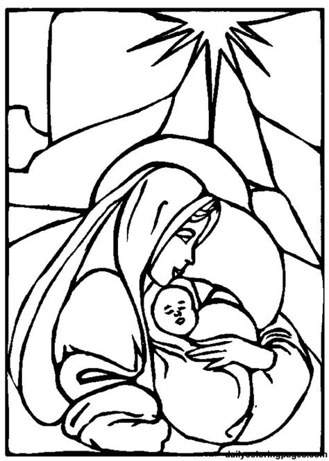 coloring page about baby jesus mother mary coloring pages coloring home
