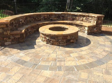 belgard flagstone pavers circle paver patio designs