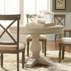 Round White Dining Room Table by Aberdeen Wood Round Dining Table Only In Weathered Worn