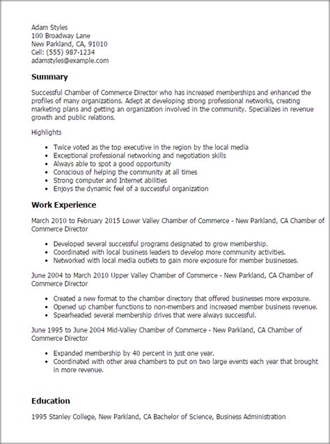 broadway resume sle professional chamber of commerce director templates to showcase your talent myperfectresume