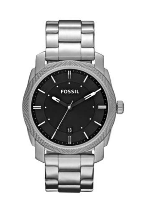 Fossil Machine Fs4773 Silver fossil machine chronograph stainless steel silver