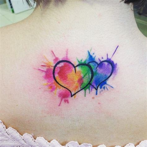 watercolor heart tattoo watercolor designs ideas and meaning