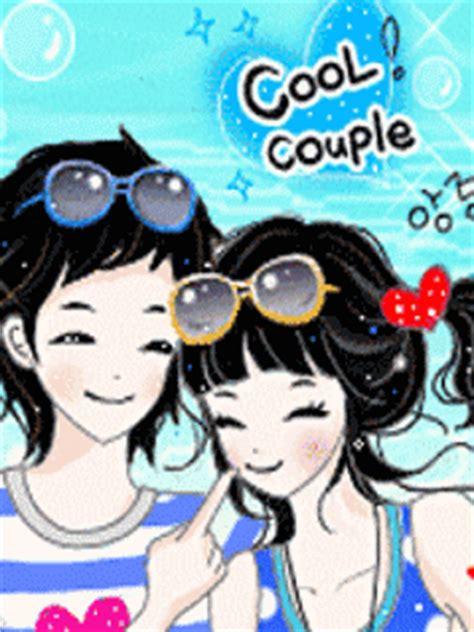 wallpaper bergerak couple cartoon korean cartoon korean couple