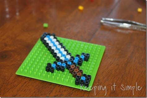 melty bead keeping it simple minecraft craft idea melty bead