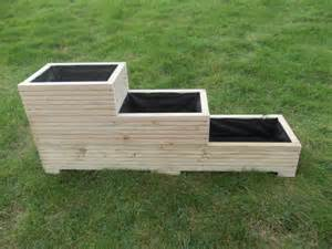 large wooden planter window box flower planter herb