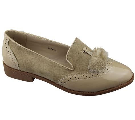 Flat Shoes Wanita Suede Lucuunikmurah womens slip on tasel patent suede flat oxford loafers brogues pumps size ebay