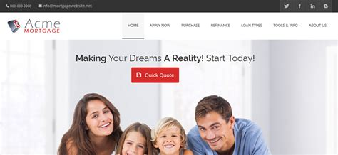 Mortgage Website Templates