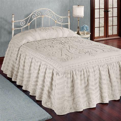 Oversized Bedspreads Chenille Ruffled Flounce Oversized Bedspread Bedding