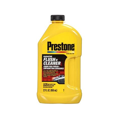 Prestone Radiator Flush Cleaner 2in1 Light Flushing And Heavy Duty prestone 174 as105y radiator flush and cleaner