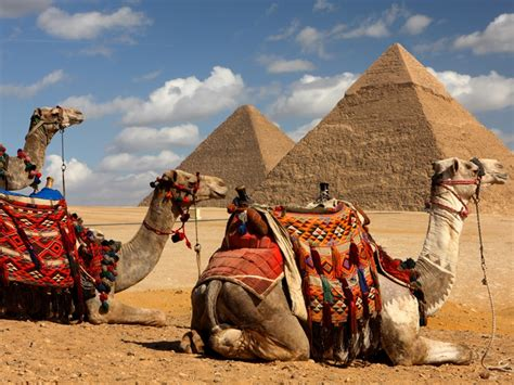 old ancient egypt old kingdom pyramids and statues ancient egypt