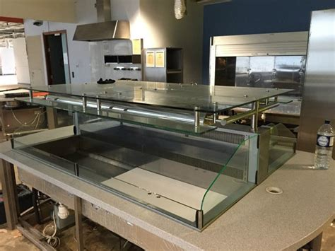 Counter Top Salad Island Salad Bar Mh1570fl4t secondhand catering equipment refrigerated display counters