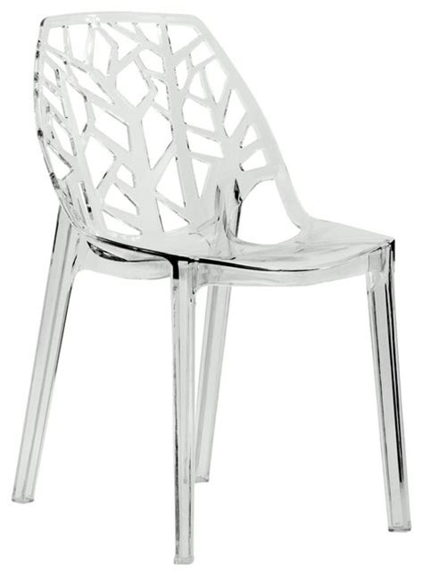 Clear Dining Chair Leisuremod Modern Cornelia Clear Dining Chair Contemporary Dining Chairs By Leisuremod