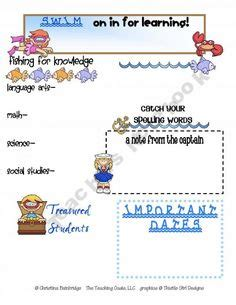 Ocean Newsletter For Word From Edlah Preschool Resources On Teachersnotebook Com 1 Page Themed Word Template