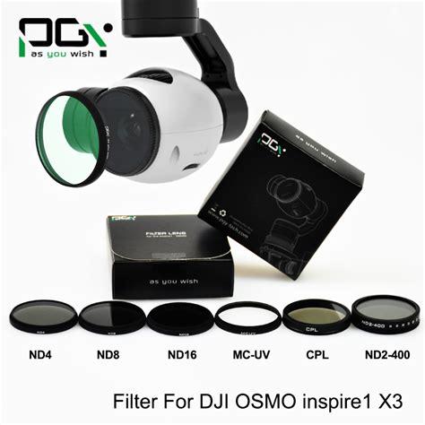 pgytech dji inspire 1 dji osmo x3 filter lens nd4 nd8