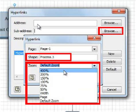visio hyperlinks learn how to create links going to a specific shape within