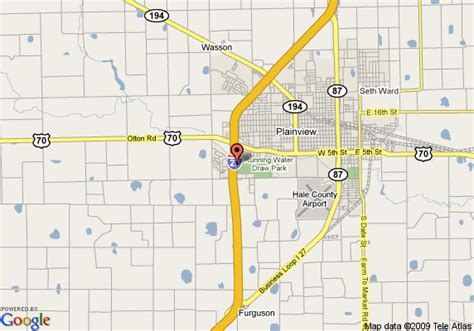 plainview texas map map of best western conestoga plainview