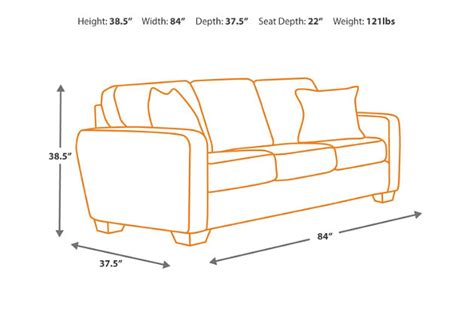 couch height alenya sofa ashley furniture homestore