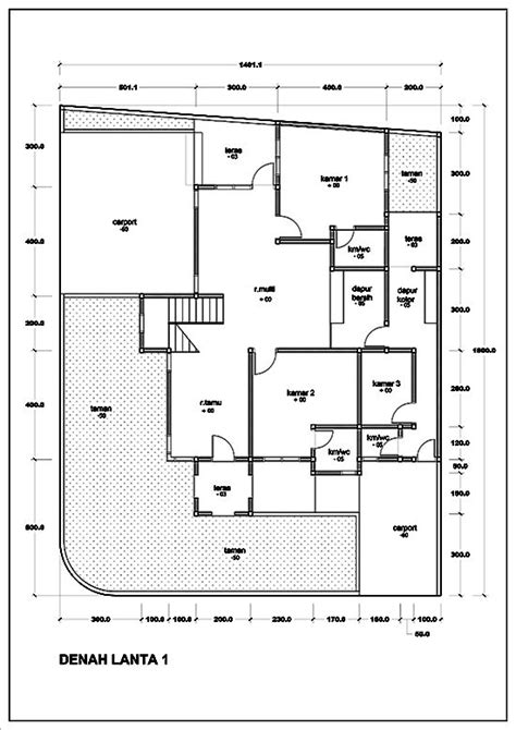 25 ide sketsa arsitektur terbaik di gambar denah rumah 1 lantai ukuran 9x17 best ideas