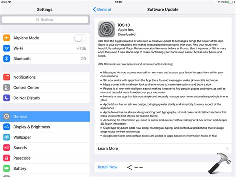 install windows 10 on ipad how to upgrade your ipad to ios 10