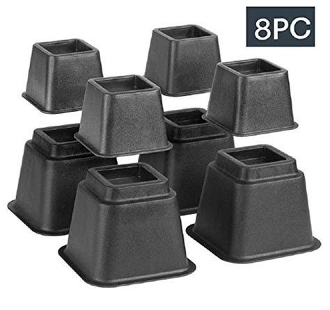8 inch bed risers bed risers adjustable heavy duty 8 piece set 3 or 5 or