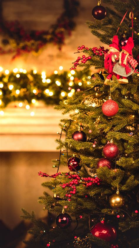 oboi rozhdestvo novyy god elka christmas  year gifts fir tree fireplace decorations