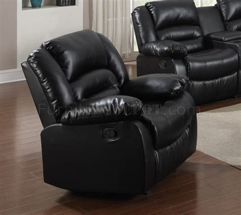 bonded leather reclining sofa 9241 reclining sofa in black bonded leather w options