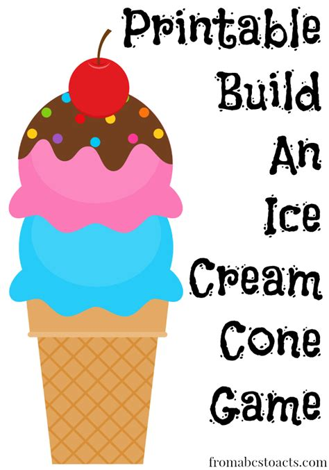 ice cream coloring pages games printable build an ice cream cone game from abcs to acts