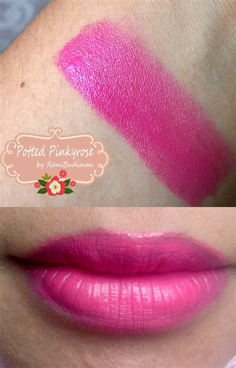 Lipstik Wardah Exclusive No 21 potted pinkyrose makeup diaries mini review swatch