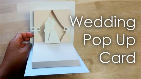 [Tutorial   Template] DIY Wedding Project Pop Up Card