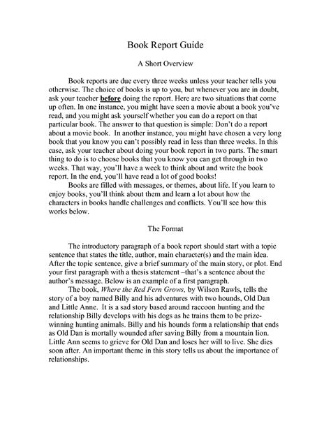 college book report template best photos of sle college book report college book